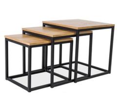 Журнальный столик Signal Trio дуб/черный (3 стола)