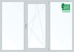 Окно ПВХ Окно ПВХ Salamander Окно 2040*1400 2К-СП, 6К-П, Г+П/О+Г