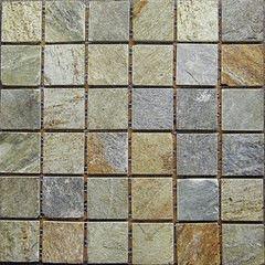 Натуральный камень Натуральный камень АЛЬТЕРфасад Мозаика из сланца Oyster slate 6х6 чипов