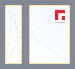 Дерево-алюминиевое окно Gutmann Сосна 1460*1400, в/с, П/О+П