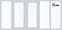 Балконная рама Балконная рама KBE 3650*1450 1К-СП, 4К-П, Г+П/О+П/О+Г+П/О