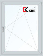 Окно ПВХ Окно ПВХ KBE 900*1200 2К-СП, 5К-П, П/О