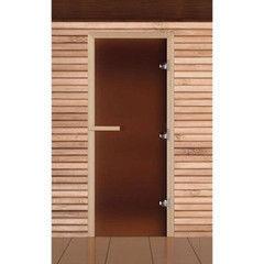 Дверь для бани и сауны Дверь для бани и сауны EcoDoor Бронза матовая 1800x700