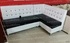 Кухонный уголок, диван БайКос угловой (черный/белый)