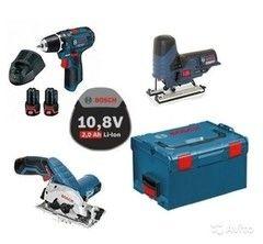 Дрель Дрель Bosch GSR 10,8-2-LI + GST 10,8-LI + GKS 10,8 V-Li L-Boxx (0.615.990.G07)