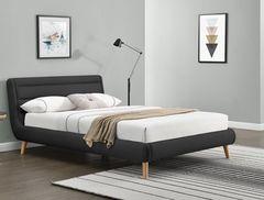 Кровать Кровать Halmar Elanda 160 (темно-серый)