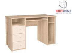 Письменный стол Интерлиния СК-010 Дуб сонома+Дуб белый