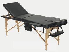 Мебель для салонов красоты  Массажный стол AAF 3-х сегментный складной (дерево), цвет черный