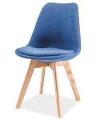 Кухонный стул Signal Dior (дуб/синий)
