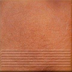 Клинкерная плитка Клинкерная плитка Opoczno Solar лестничные ступени (orange)