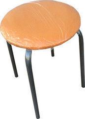 Кухонный стул Алвест Эконом оранжевый/серебро
