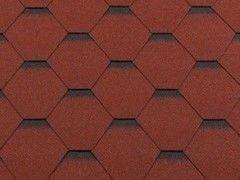 Гибкая черепица Гибкая черепица RoofShield Премиум Стандарт Красный с оттенением