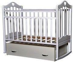 Детская кровать Кроватка Антел Каролина-4 (белый)