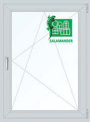 Окно ПВХ Окно ПВХ Salamander 800*1100 2К-СП, 5К-П, П/О