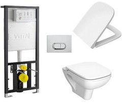 Унитаз Vitra S20 в комплекте с сиденьем микролифт и инсталяцией 9004B003-7204
