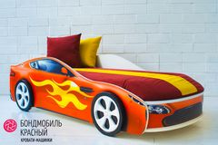 Детская кровать Детская кровать Бельмарко Бондмобиль красный