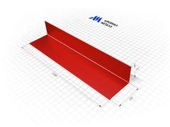 Комплектующие для кровли АрсеналМеталл Планка примыкания верхняя Полиэстер матовый RAL3005
