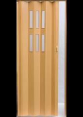 Межкомнатная дверь Дверь-гармошка Pioneer Гласс бук ДО