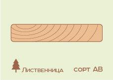 Террасная доска Лиственница 27*140 (палубная доска), сорт АВ