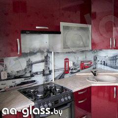 Скинали AA-Glass Скинали 4 из закаленного стекла 6мм + фотопечать (УФ-запекание)