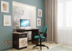 Письменный стол SV-Мебель №8 (дуб млечный/дуб венге)