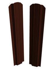 Забор Забор Скайпрофиль Штакетник П-111 Престиж одностороннее покрытие Пэ глянцевый RAL8017