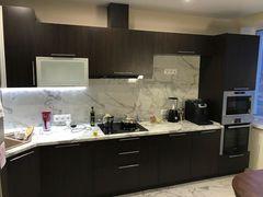 Кухня Кухня Egger Угловая, белый,черно-коричневый