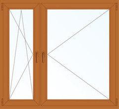 Деревянное окно Дуб 1460*1400, в/с, П/О+П