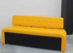 Кухонный уголок, диван ZMF Оскар-2 (черно-желтый)