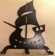 Полкодержатель, крючок Отис-сервис Крючок декоративный Кораблик (черный)