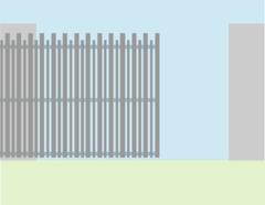 Alutech Откатные ворота алюминиевый профиль б/авт 4*2