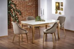 Обеденный стол Обеденный стол Halmar Donovan (белый/дуб натуральный)