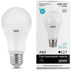Лампа Лампа Gauss 23229, E27, A60, 20Вт