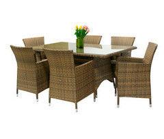 Комплект мебели из ротанга Garden4you WICKER 13332, 0946 (стол и 6 кресел)