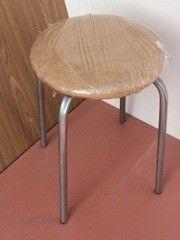 Кухонный стул Алвест Эконом бежевый/серебро