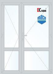 Дверь ПВХ Дверь ПВХ KBE 1500*2100 двустворчатая Модель 70