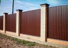 Забор Забор КамЛам Забор профнастил коричневый 4