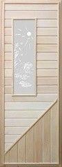 Дверь для бани и сауны Дверь для бани и сауны Doorwood №3 с прямоугольным стеклом