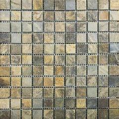 Натуральный камень Натуральный камень АЛЬТЕРфасад Мозаика из сланца Multicolor 11х11 чипов