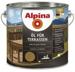 Защитный состав Защитный состав Alpina Terrassen (2,5л) средний оттенок
