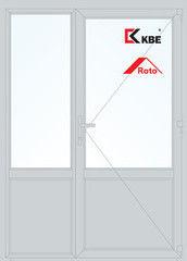 Дверь ПВХ Дверь ПВХ KBE 1500*2100 двустворчатая  Модель 97