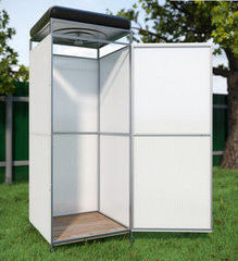 Летний душ для дачи Летний душ для дачи Капасити без тамбура с баком на 200 л с подогревом