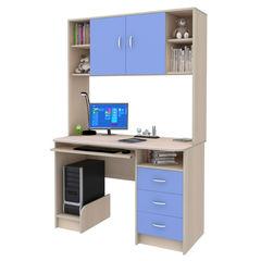 Письменный стол Смолвилль Голубой/молочный (185x120x60)