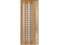 Межкомнатная дверь Дверь-гармошка Pioneer Сильвер светлый дуб ДО