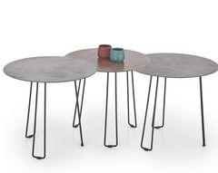 Журнальный столик Halmar Triple (серый/коричневый) комплект