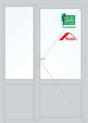 Дверь ПВХ Дверь ПВХ Salamander STL 1500*2100 двустворчатая Модель 32