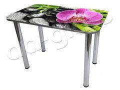 Обеденный стол Обеденный стол AA-Glass Стол с фотопечатью 100x60 (опора труба d60)