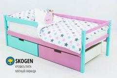 Детская кровать Детская кровать Бельмарко Skogen мятный-лаванда