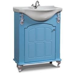 Мебель для ванной комнаты Калинковичский мебельный комбинат Тумба Версаль 650 КМК 0454.5 (небесная лазурь)