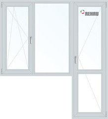 Окно ПВХ Rehau 1860*2160 1К-СП, 3К-П, П/О+Г+П